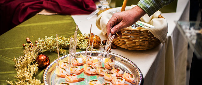 Rogue Winterfest Culinary Christmas Classic Shrimp Hors d'Oeuvres