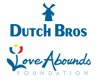 Dutch Bros and Love Abounds Logos