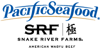 Pacific Seafood and Snake River Farms Combo Logo