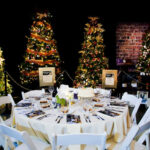 Rogue Winterfest 2016 Gala and Grand Auction Table with Trees