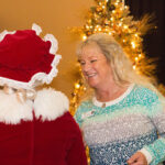 Rogue Winterfest 2016 Golden Social Woman Talking to Mrs. Claus