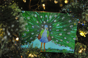 Rogue Winterfest 2016 Trees Moments of Hope Peacock Artwork