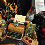 Rogue Winterfest 2016 Trees Steampunk Night Steamed Up Royal Typewriter with Paper