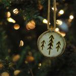 Rogue Winterfest 2016 Trees Stone Age Christmas Paleo Arrows Artwork Ornament