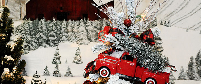 The Tangled Tinsel Tree Farm Truck